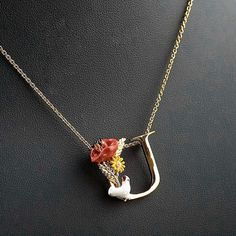 Find More Pendant Necklaces Information about unique letter U flower elegant noble pendant necklace female fashion jewelry,High Quality necklace connector,China necklace tribal Suppliers, Cheap jewelry tree necklace holder from warmhome jewelry on Aliexpress.com