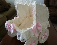 The Tyler Baby Carriage Centerpiece / Baby by TheCarriageShoppe