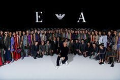 The finale of #EALiveInParis. #PFW #SS17 #EmporioArmani