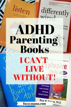 Books for ADHD Parents | This mom of two ADHD boys, gives you honest reviews of the books that have been the most influential on her ADHD Parenting journey. The list of books is short, us parents of special kids do not have much time! Parenting Books, Kids And Parenting, Parenting Tips, Good Books, Books To Read, Adhd Diet, Adhd Strategies, Adhd Symptoms, Special Kids