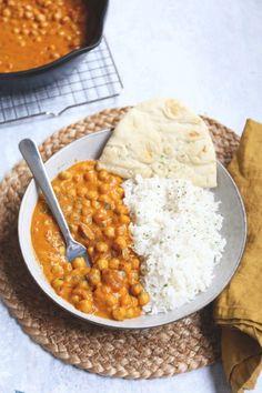 Vegetarische kikkererwten masala Pureed Food Recipes, Easy Healthy Recipes, Veggie Recipes, Indian Food Recipes, Vegetarian Recipes, Healthy Food, Diner Recipes, Good Food, Yummy Food