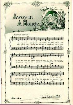 Christmas Sheet Music for Scrapbooking