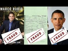 Marco Rubio Lies About Obama's Forged Birth Certificate