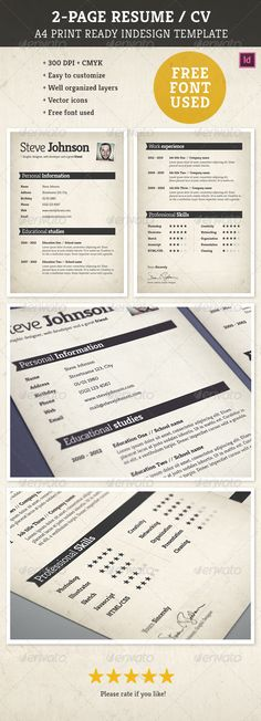 creative resume  graphicriver a creative resume template with fully editable  scalable elements