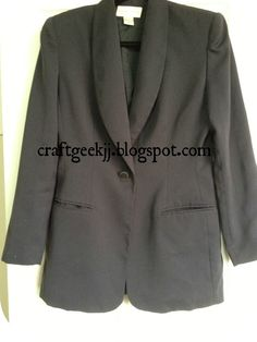 Jacket Refashion - ruching in the back for better fit