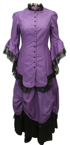 Lucille Walking Suit, Purple - For when I do my Steampunk costume.
