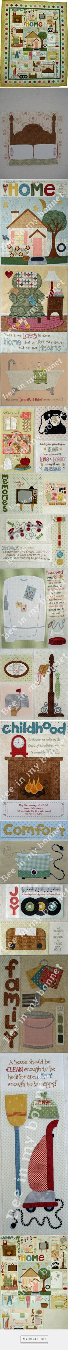 Bee In My Bonnet Co. Patterns: Comforts of Home... - a grouped images picture