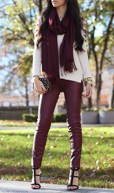 red leather leggings.....yes!