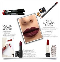 """Untitled #340"" by dino-islamovic ❤ liked on Polyvore featuring Bobbi Brown Cosmetics, NYX, Anna Sui, LASplash and NARS Cosmetics"