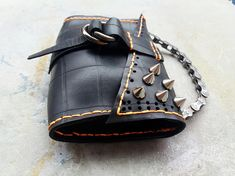 Ways To Use That Room Below Your Stairs Inner Tube Purse Soft Industrial Purse With Spikes Upcycled Purse With Bike Chain Handle Business Card Stock, Small Business Cards, Best Printers, Best Bow, Bike Chain, Spikes, Home Crafts, Bucket Bag, Upcycle