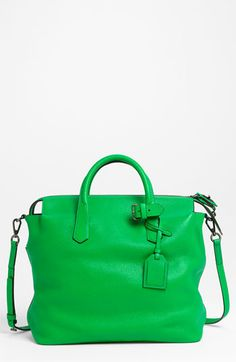 I would be very fancy indeed going to @thebarmethodHQ with this Reed Krakoff 'Gym Bag' Leather Satchel from @Nordstrom
