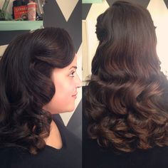 Vintage 1940's waves by Lauren Franz-Maurer at Mint Hair Studio in Scottsdale, Arizona.