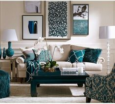 Blue living room decor best images about turquoise room decorations house ideas room living room and Living Room Turquoise, Teal Living Rooms, Living Room Colors, New Living Room, Formal Living Rooms, Living Room Furniture, Living Room Designs, Small Living, Dark Furniture