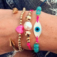 Set By Vila Veloni Multicolor Turkish Eye Bracelets