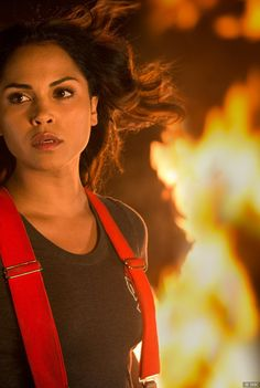Monica Raymund as paramedic, Gabriela Dawson on NBCs Chicago Fire | Shared by LION