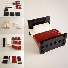 Bed instructions (Blue Striped House MOC) – Bettanleitung (Blue Striped House MOC) This image. Lego Modular, Lego Design, Lego Moc, Legos, Lego Cars, Casa Lego, Lego Furniture, Furniture Ideas, Minecraft Furniture
