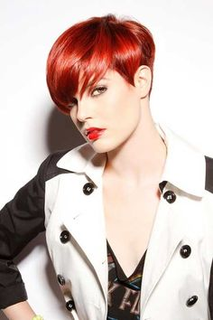 #Neueste Frisuren 2018 Rote Pixie Frisuren #Rote #Pixie #Frisuren
