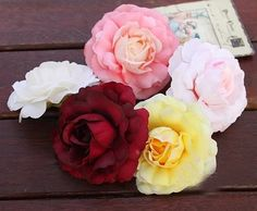 10x Artificial Flower head wedding decor camellia flower by sophieliu2 on Etsy