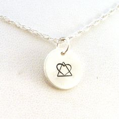 Adoption Symbol Necklace - Sterling Silver Jewelry (11.00 USD) by CrowStealsFire