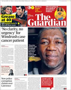 Portada de The Guardian (Reino Unido) Newspaper Layout, Newspaper Design, Magazine Design Inspiration, After All These Years, The Guardian, Flyers, Meant To Be, Sayings, Journaling