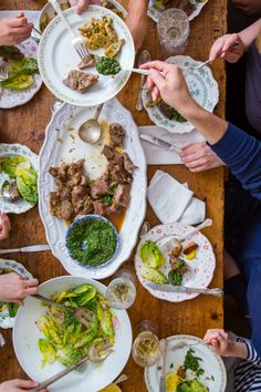 Spring lamb dinner party