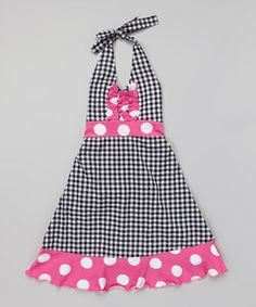 Look what I found on #zulily! Black Gingham Halter Dress - Infant, Toddler & Girls by Corky's Kids #zulilyfinds