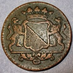 1739 New York Penny Dutch Colonial Utrecht Mint Copper Cent Colonial Penny