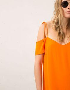 Robe Bershka épaules dénudées - Robes et salopettes - Bershka France
