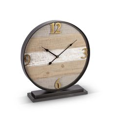 """Grayson Lane Vintage Style Brown Metal Penny-Farthing Clock 12"""" x 13"""" x 2"""" in the Clocks department at Lowes.com Tabletop Clocks, Wood Clocks, Bicycle Clock, Desktop Clock, Clock Display, Metal Clock, Digital Clocks, Wooden Tables, Wood And Metal"""