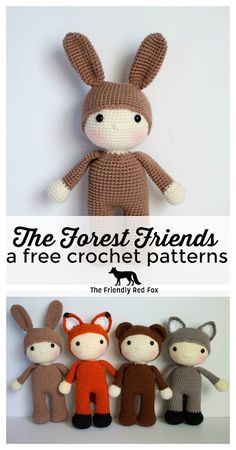 The Friendly Harry- a free crochet pattern This free crochet bunny pattern is adorable in the traditional brown, but would be so cute in a bright color or even gray or white! Crochet Bunny Pattern, Crochet Animal Patterns, Stuffed Animal Patterns, Crochet Patterns Amigurumi, Cute Crochet, Crochet Animals, Crochet Dolls, Crochet For Kids, Doll Patterns