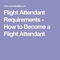 Flight Attendant Requirements - How to Become a Flight Attendant