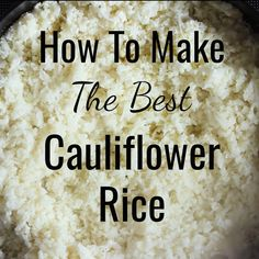 Light and fluffy basic Cauliflower Rice recipe used to make delicious gluten-free and low carb sides, risotto, fried rice, salads, … Healthy Rice Recipes, Vegetable Recipes, Low Carb Recipes, Cooking Recipes, Diet Recipes, Low Carb Soups, Rice Flour Recipes, Kitchen Recipes, Recipes Dinner