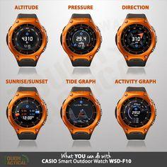 Casio Series - Another Tough Smart Outdoor Watch Casio Vintage Watch, Casio Watch, Vintage Watches, Tactical Watch, Casio G Shock Watches, Arte Robot, Smart Watch, Watches For Men, Tictac
