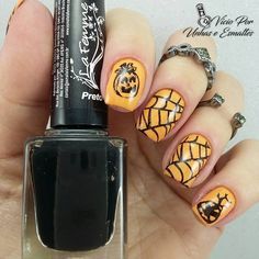 CICI&SISI Halloween nails cute spider web