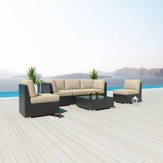 Uduka Daly 6 Outdoor Sectional Patio Furniture Sofa Set