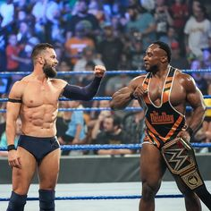 """WWE United Kingdom no Instagram: """"SUCCESS AND BROTHERHOOD🤝 There's just something about a @wwebige X @finnbalor partnership🤩 #SmackDown"""" Wwe Seth Rollins, Finn Balor, Professional Wrestling, Wwe Superstars, Champs, Mma, Wwe Stuff, Instagram, Boxing"""