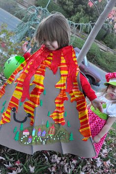 Volcano costume by suburbanbelle, via Flickr with a super brief tute...