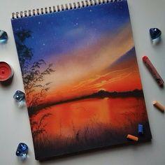 Вишня обухова artist in 2019 oil pastel art, pastel drawing, watercolor . Soft Pastel Art, Pastel Artwork, Oil Pastel Drawings, Art Drawings, Pastel Crayons, Guache, Crayon Art, Chalk Pastels, Painting & Drawing