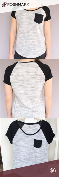 Zine | Grey & Black Tee (Used) Simple grey and black tee. Size small. In good condition. Zine Clothing Tops Tees - Short Sleeve