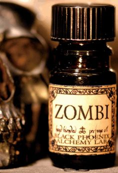 Zombi - BPAL  Dried roses, rose leaf, Spanish moss, oakmoss and deep brown earth.   (smells like real soil! not your average perfume choice, but fun nonetheless)