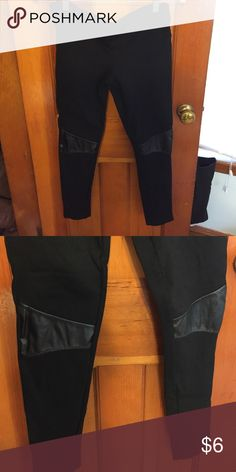 e4867fe95c1c4 Faux leather knee patched leggings They are in good condition would fit a  small or medium