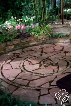 Spiral Patio With Large Spaces Bit Pieces . The Rosy Hue Of These  Stones/concrete Make This Resemble A Rose.