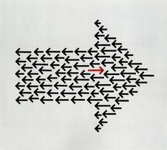 Anton Stankowski / Der Pfeil: Spiel, Gleichnis, Kommunikation (The Arrow: Game, Allegory, Communication) conceptual design Anton, Principals Of Design, Choose Your Own Path, Poster Design Inspiration, Red Arrow, Arrow Design, Identity Art, Conceptual Design, Principles Of Art