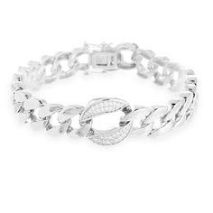Griwa Bracelet Silver, White Zircon #LuxenterJoyas #LuxenterTimeToShine