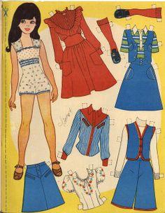 Hobbies For 7 Year Olds Barbie Paper Dolls, Vintage Paper Dolls, Fabric Dolls, Paper Art, Paper Crafts, Paper Doll House, Kawaii Doodles, Figure Poses, Dress Up Dolls