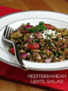 mediterranean lentil salad from Alida's Kitchen