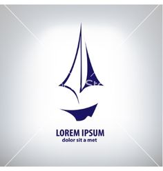 Ship sign corporate logo vector