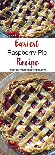 Easiest Raspberry Pie Recipe EVER - Raspberries - Ideas of Raspberries - The Most Heavenly Easiest Raspberry Pie Recipe EVER! Easy Raspberry Pie Recipe, Rasberry Pie, Raspberry Recipes, Raspberry Tarts, Cake Ingredients, Whole Food Recipes, Dessert Recipes, Cooking Recipes, Deserts
