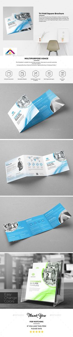 Haweya Tri-Fold Square Brochure Template PSD. Download here: http://graphicriver.net/item/haweya-trifold-square-brochure-07/16193356?ref=ksioks