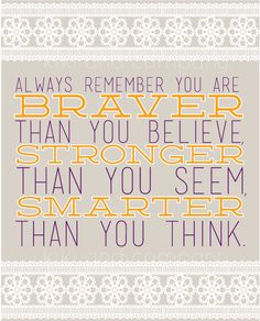 "OCTOBER INSPIRATION- ""always remember""!"
